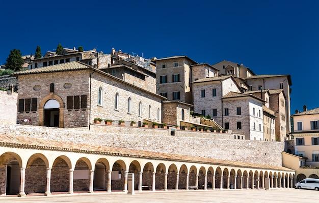 아시시의 풍경. 이탈리아의 유네스코 세계 유산