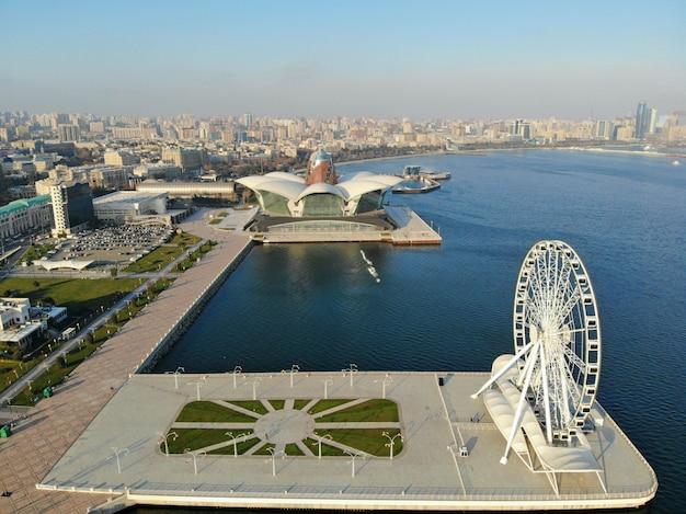 Городской пейзаж баку, столицы азербайджана