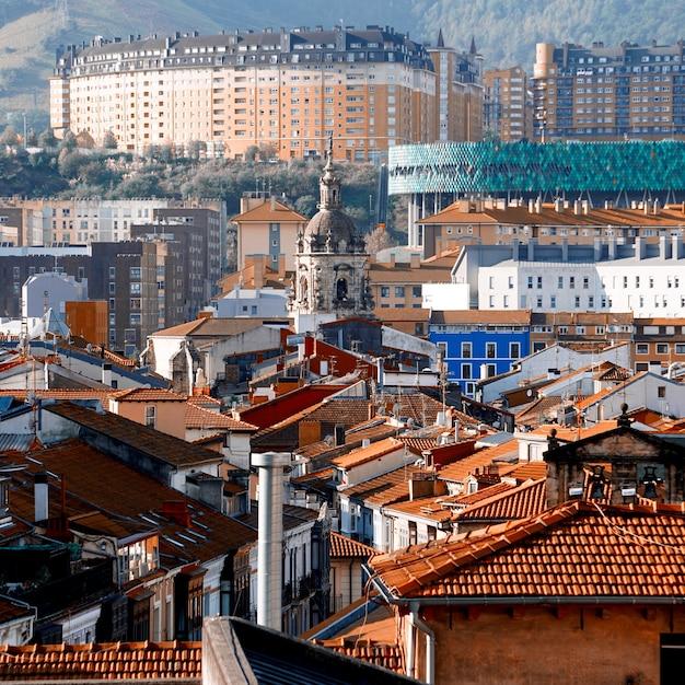 빌바오 도시, 스페인, 여행 목적지의 풍경