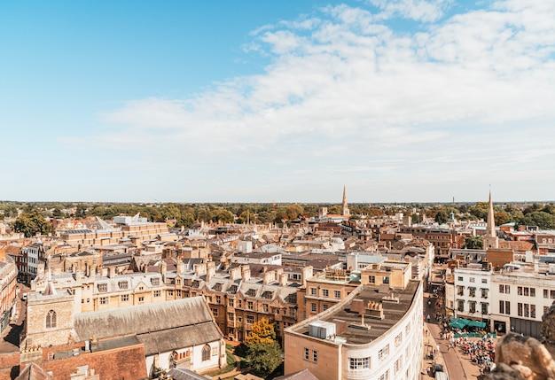 Городской пейзаж кембриджа в англии
