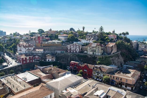 Городской пейзаж города винья-дель-мар в чили