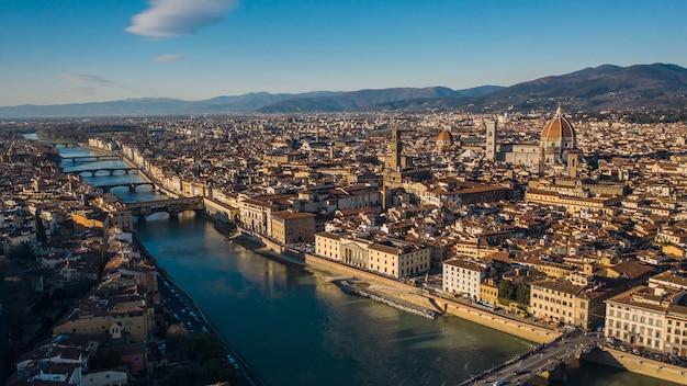 투스카니 지방의 중심 도시인 피렌체의 풍경