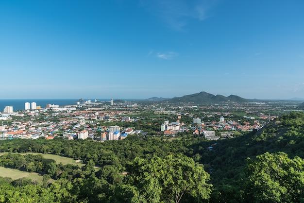 Городской пейзаж хуа хин прахуап хири-хан, таиланд