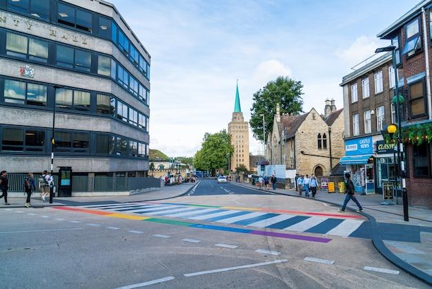 Городской пейзаж оксфорда в соединенном королевстве