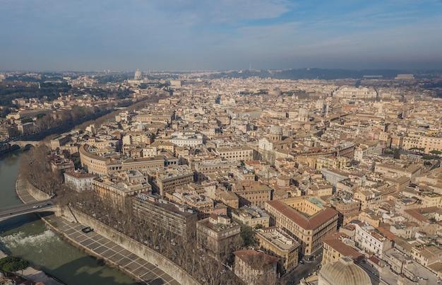 이탈리아 로마의 도시 풍경. 오래 된 도시의 공중 보기