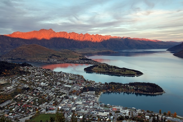 Cityscape of queenstown