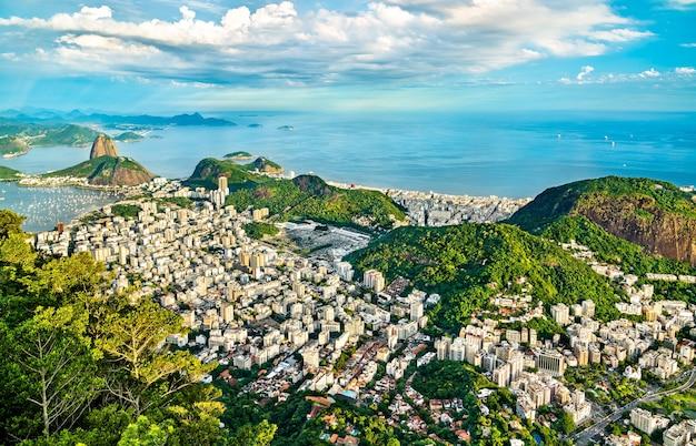 Cityscape of rio de janeiro from corcovado in brazil