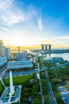 Cityscape in singapore city skyline