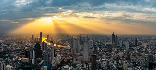 Cityscape on sunset