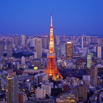Cityscape of tokyo with tokyo tower