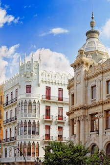 Cityscape of valencia - third size population  city in spain .