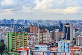 Cityscape view of Singapore