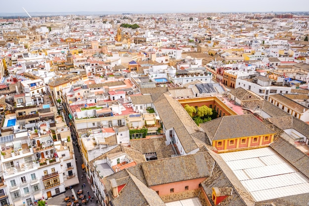Cityscape view of seville from the top of the giralda. andalusia, spain.