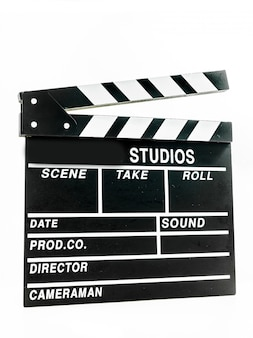 Clapper board isolated