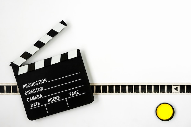 Clapperboard and film