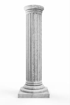 Классическая древняя колонна на белом