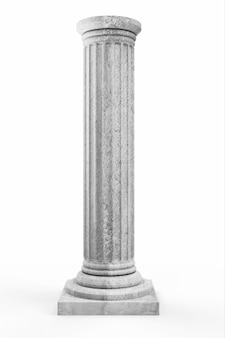 Classic ancient column on white
