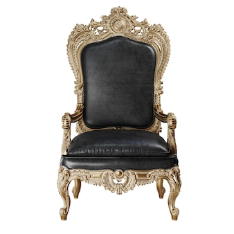 Classic armchair isolated on white background.digital illustration.3d rendering