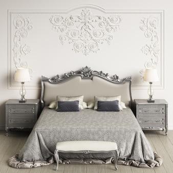 Classic bedroom interior. 3d rendering