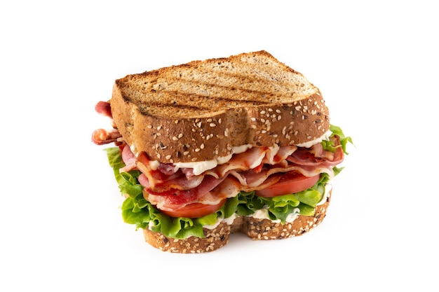 Classic blt sandwich isolated