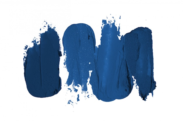 Classic blue brush strokes isolated