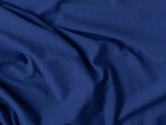 클래식 블루 컬러. 주름 패브릭 질감. 홈 디자인, 인테리어 컨셉