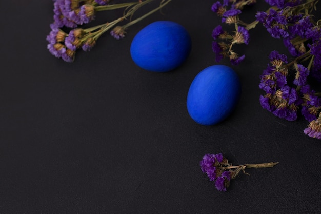 Classic blue easter eggs