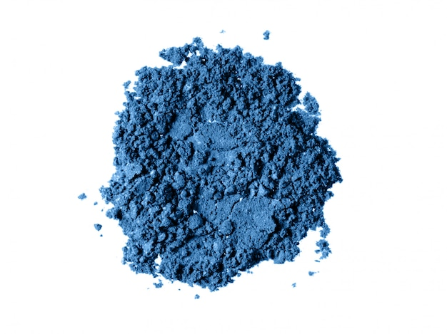 Classic blue eyeshadow powder texture
