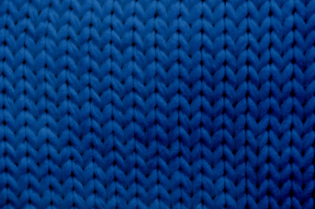 Classic blue texture knitted scarf