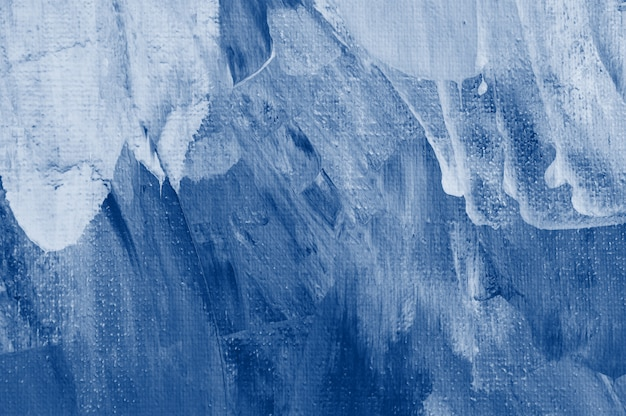 Classic blue tone abstract coloring wall painted by paper. trendy color