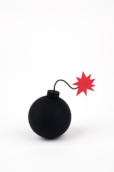 Classic bomb on white background
