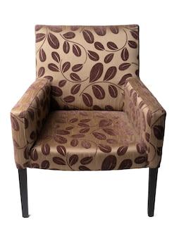 Классическое коричневое кресло, изолированные на белом фоне