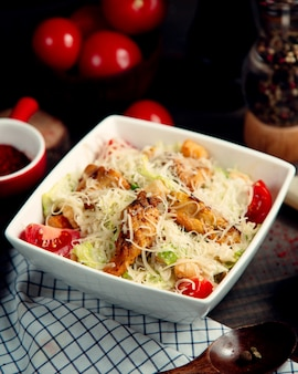 Classic caesar salad with chicken