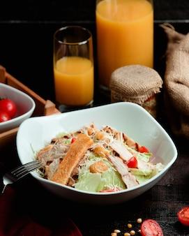Classic caesar salad with chicken