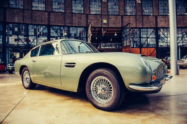 Classic car. beautiful retro style show