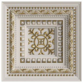 Classic ceiling caisson.3d rendering