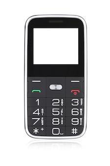 고립 된 노인을위한 버튼이있는 클래식 휴대 전화