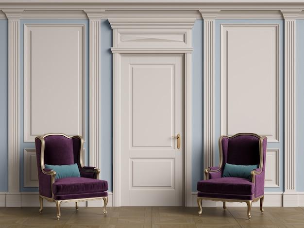 복사 공간 내부에 클래식 의자