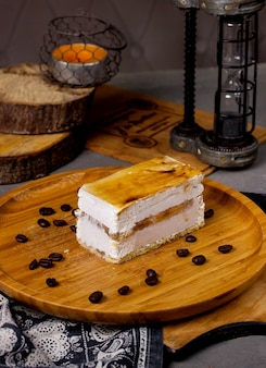 Classic cheese cake on the table