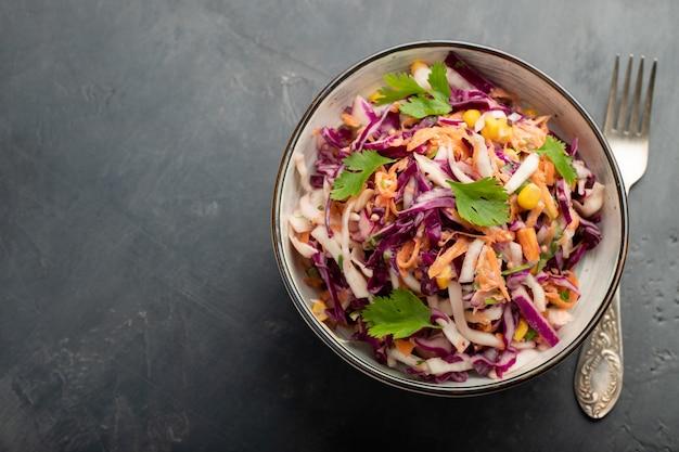 Classic coleslaw salad.