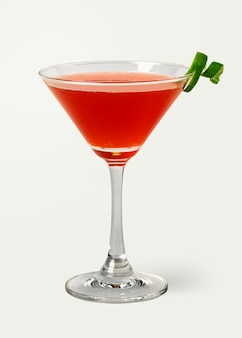 Classic cosmopolitan with a lime peel on background mockup