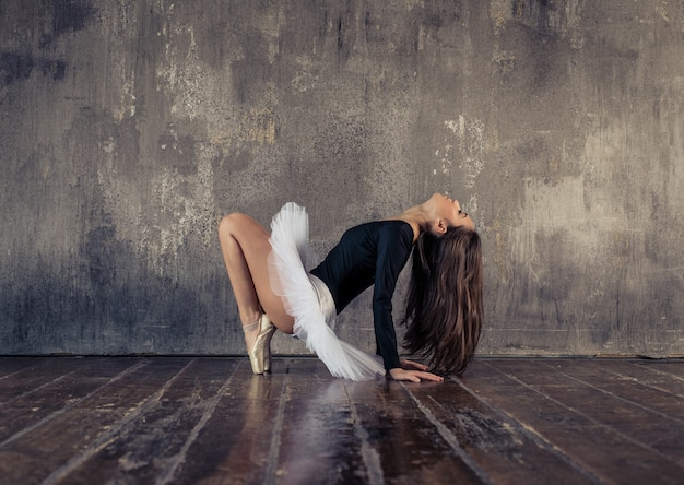 Classic dancer performing ballet moves