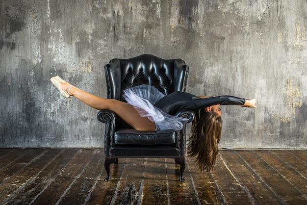 Classic dancer woman on armchair