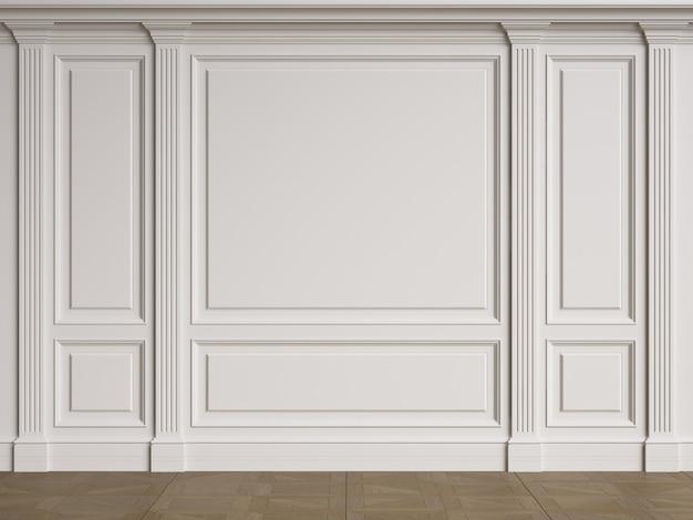 Classic decoration of interior walls