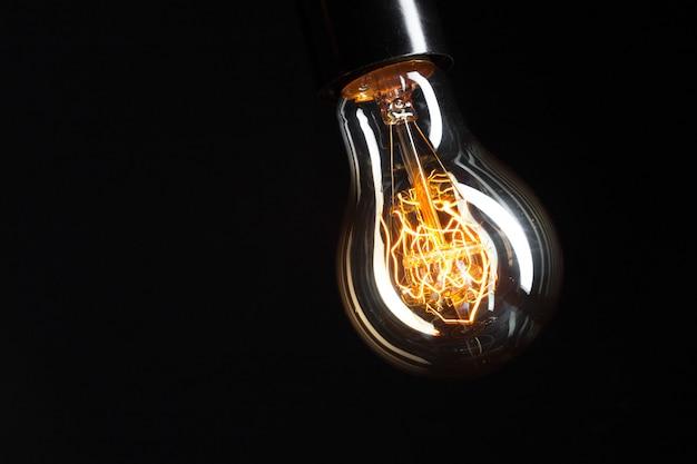 A classic edison light bulb