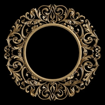 Classic frame circle with ornament decor