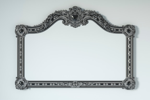 Classic frame on a white background. 3d rendering.