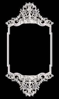 Classic frame with ornament decor  on black wall