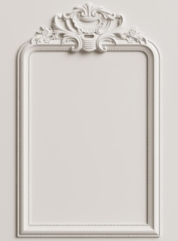 Classic frame with ornament decor for classic interior