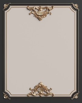 Classic  frame with ornament